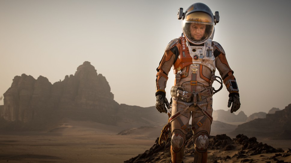 Matt Damon portrays the titular hero in THE MARTIAN. (Photo by Aidan Monaghan)