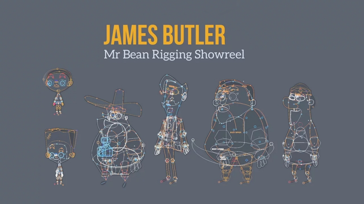 James Butler Mr. Bean rigging showreel